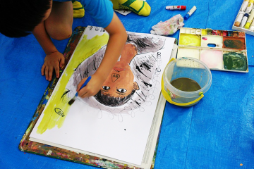 self-portrait ~鼻の穴から描いてみたら!~ 4